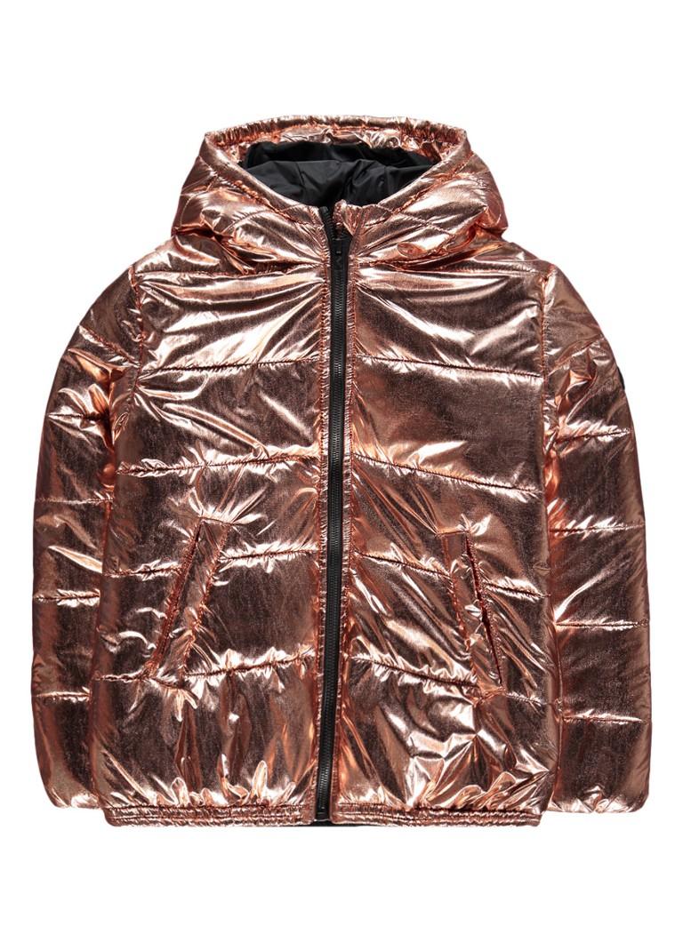 KENZO Eddine gewatteerd jack met metallic coating
