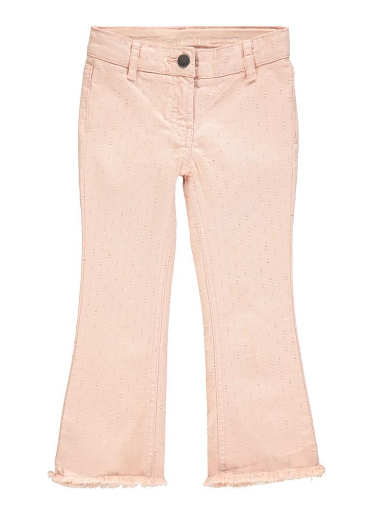 Stella McCartney Kids Ashton flared fit jeans met geborduurd dessin