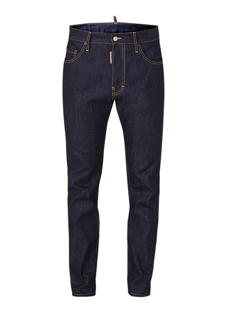 Dsquared2 Cigarette chic slim fit jeans in donkere wassing kopen