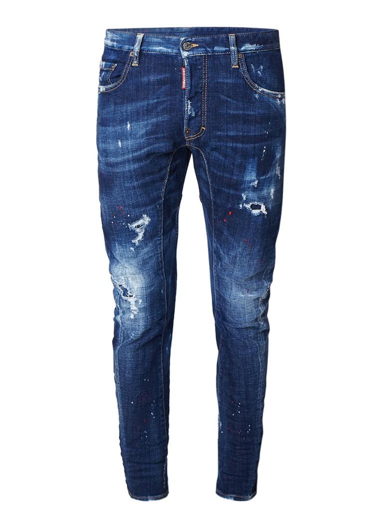 Dsquared2 Tidy Biker sim fit jeans met vintage look