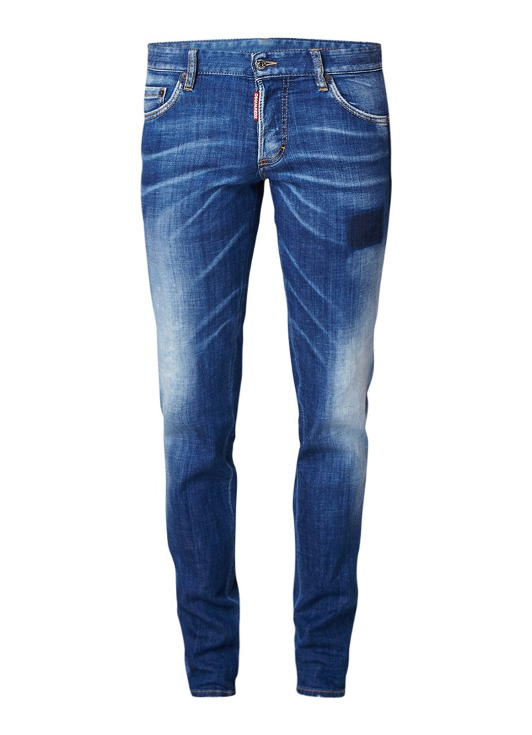 Dsquared2 Low rise slim fit jeans met faded look