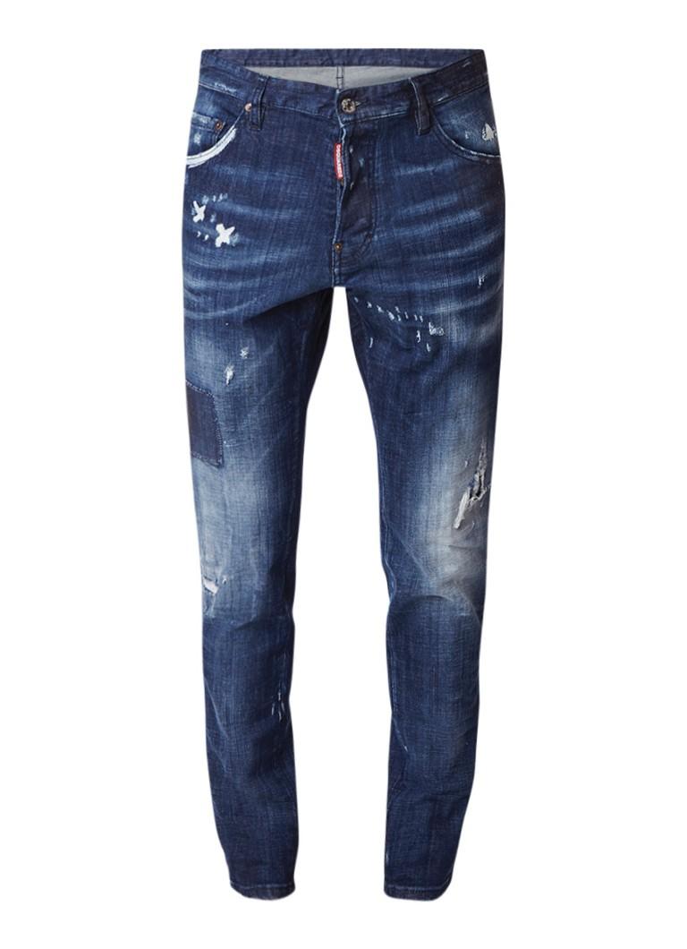 Dsquared2 Cool Guy slim fit jeans met gedragen look