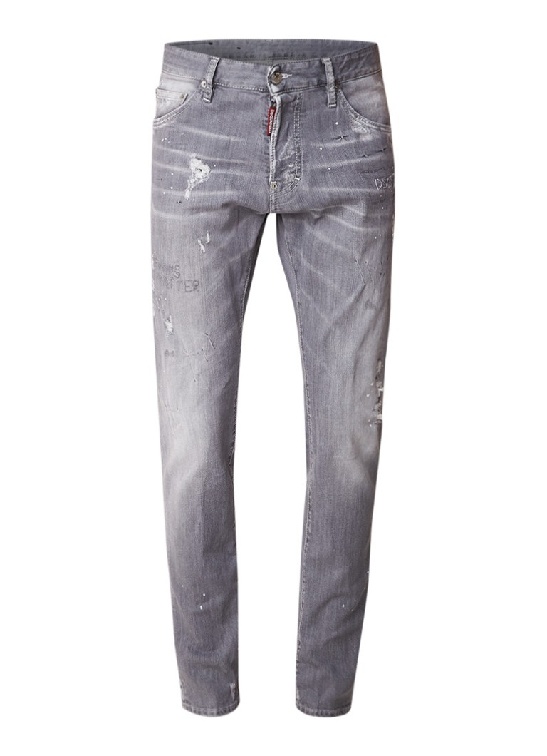 Dsquared2 Cool Guy slim fit jeans met destroyed look
