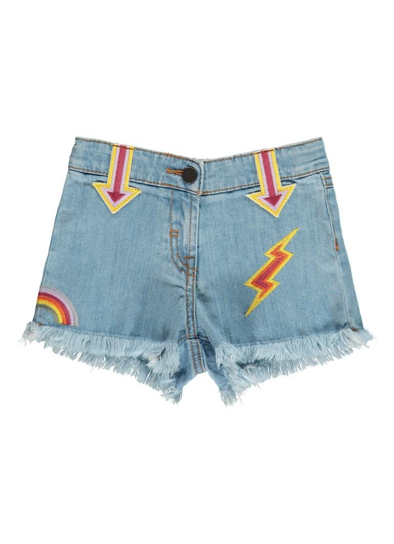 Stella McCartney Kids Marlin denim shorts met patches