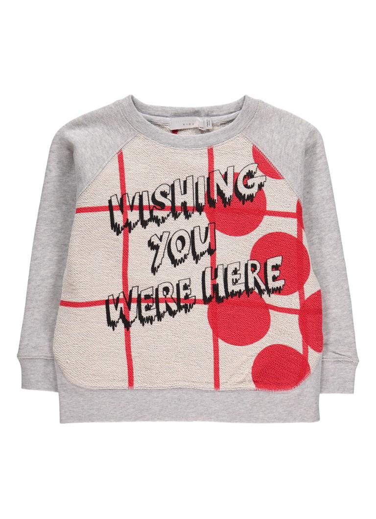 Stella McCartney Kids Oyster sweater met tekstopdruk