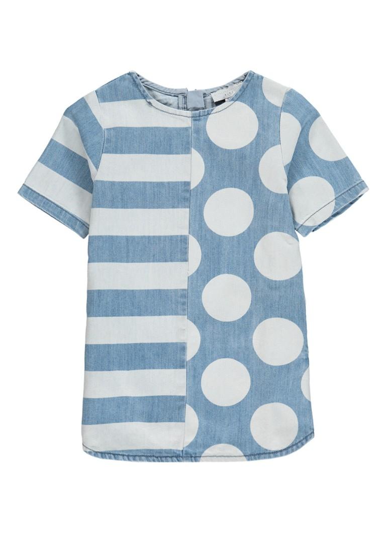 Stella McCartney Kids Bess jurk van denim met print