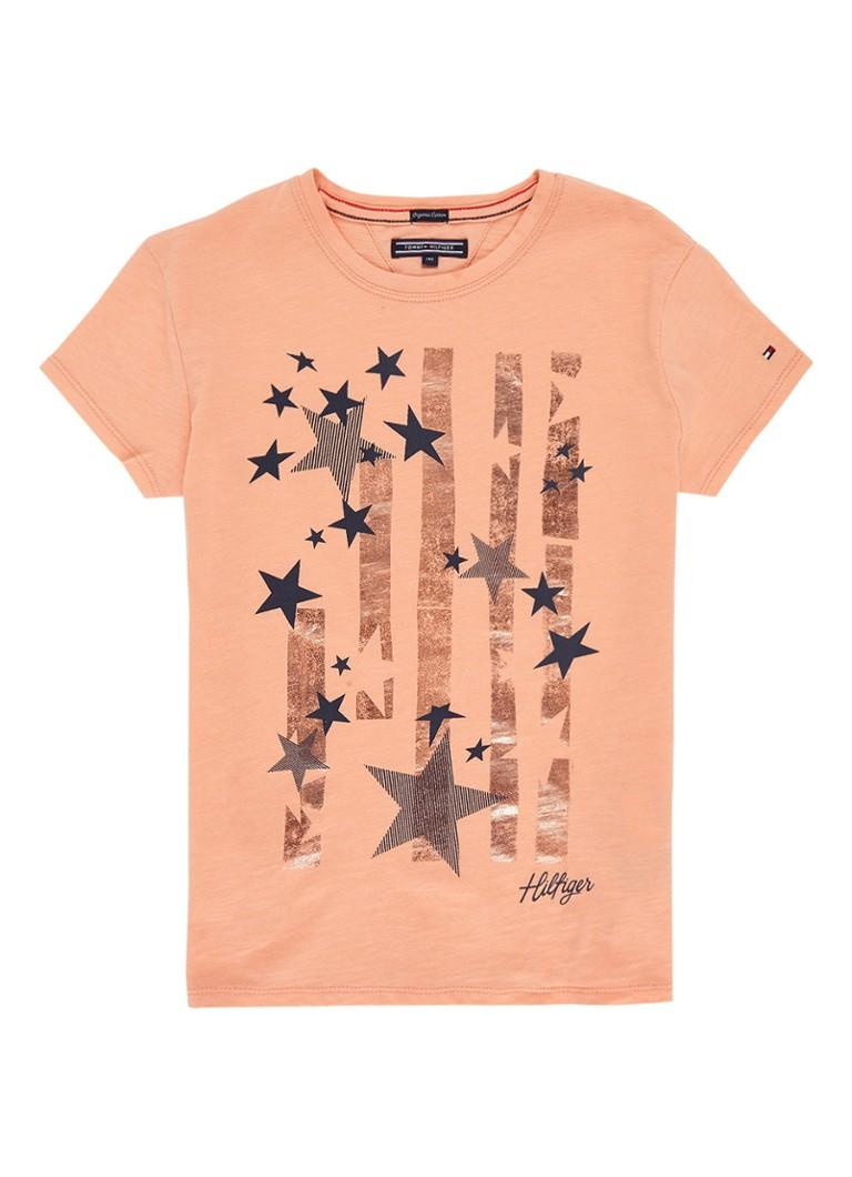 Tommy Hilfiger T-shirt met sterrenprint en metallic details