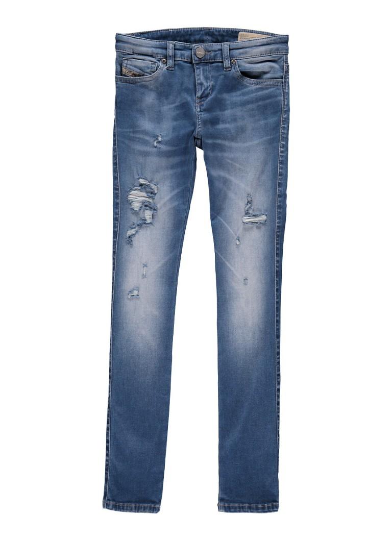 Diesel Super slim skinny fit jeans met swarovski detail