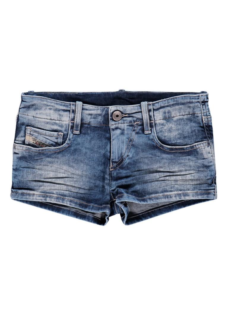 Diesel Denim shorts met washed look