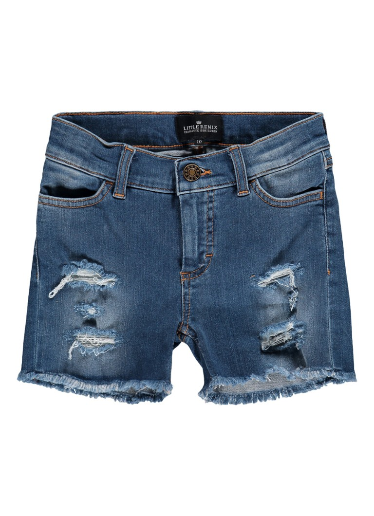 Little Remix Blue Moon denim shorts met destroyed details