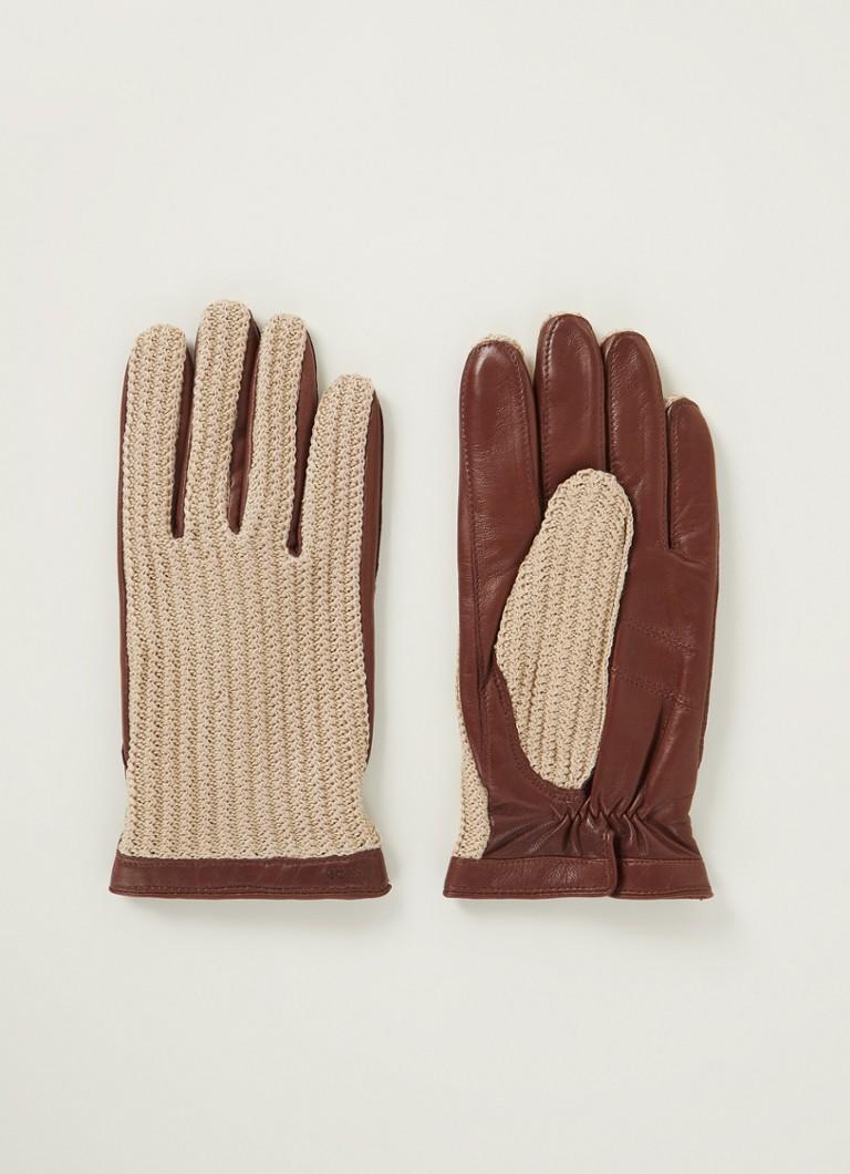 Hestra Adam handschoenen met schapenleren details