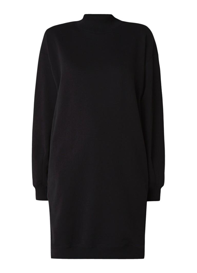 Vanilia Trui-jurk met ritsdetails zwart