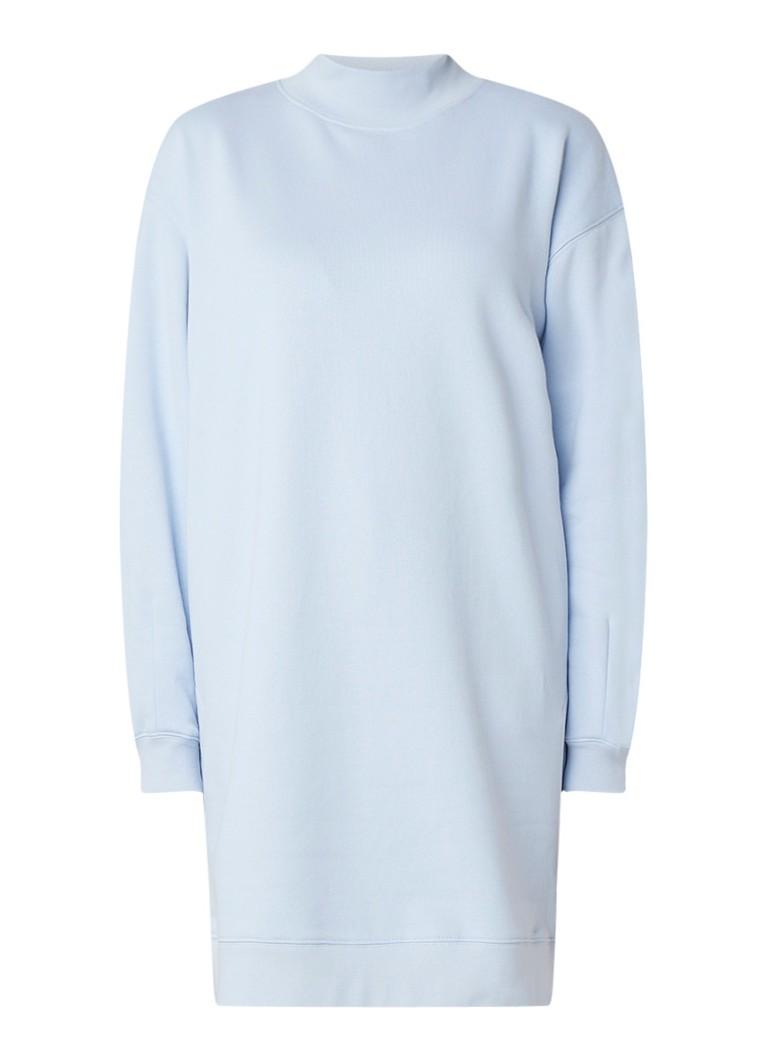 Vanilia Sweaterjurk met col en ritsdetail lichtblauw