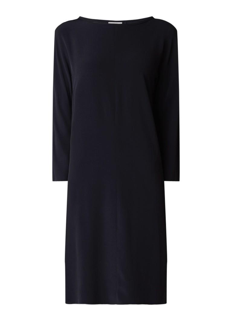 Vanilia Boxy midi-jurk van crêpe zwart