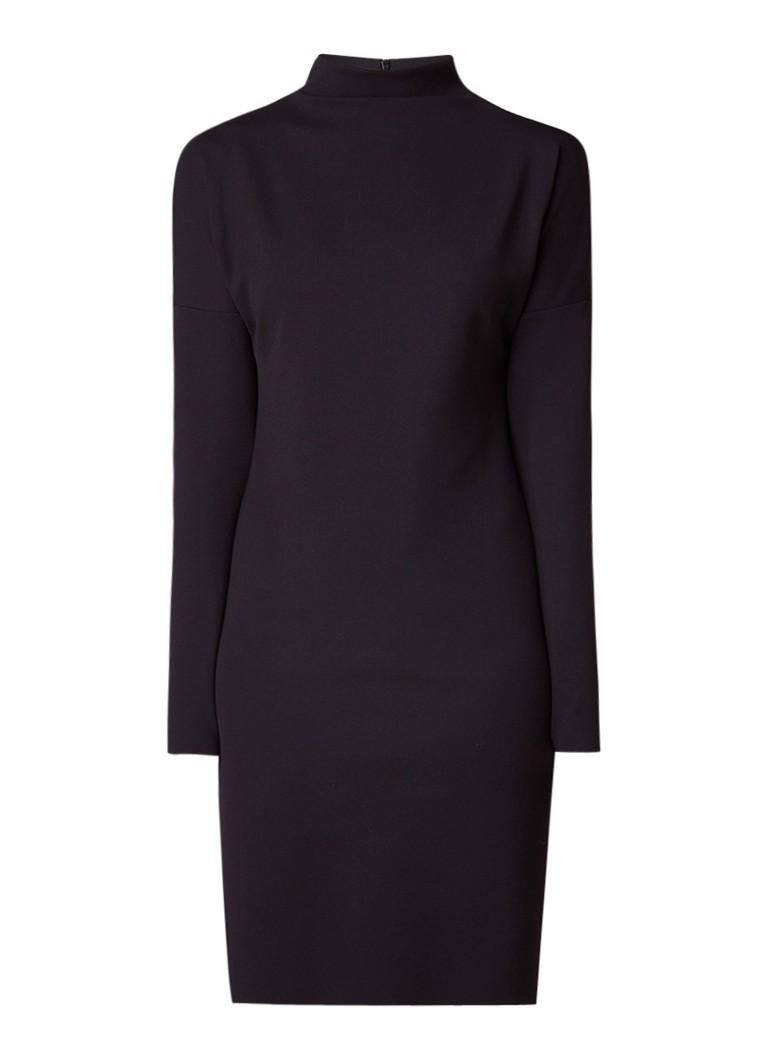Vanilia Midi-jurk van neopreen met col zwart