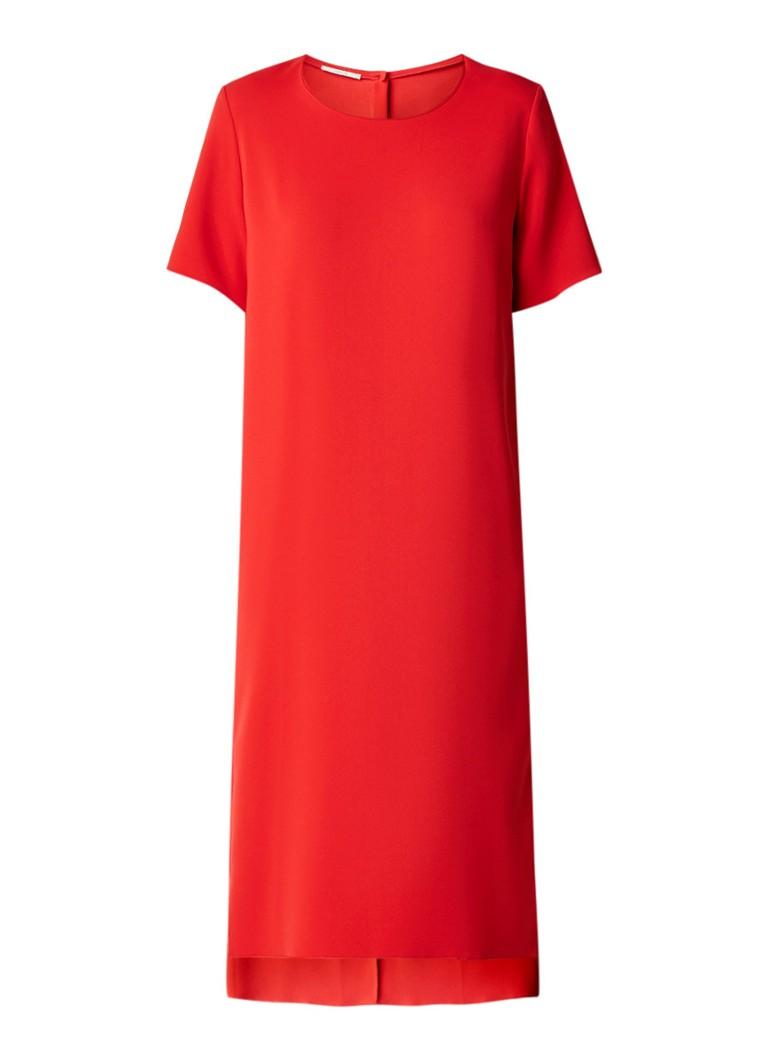 Vanilia Midi-jurk van crêpe rood