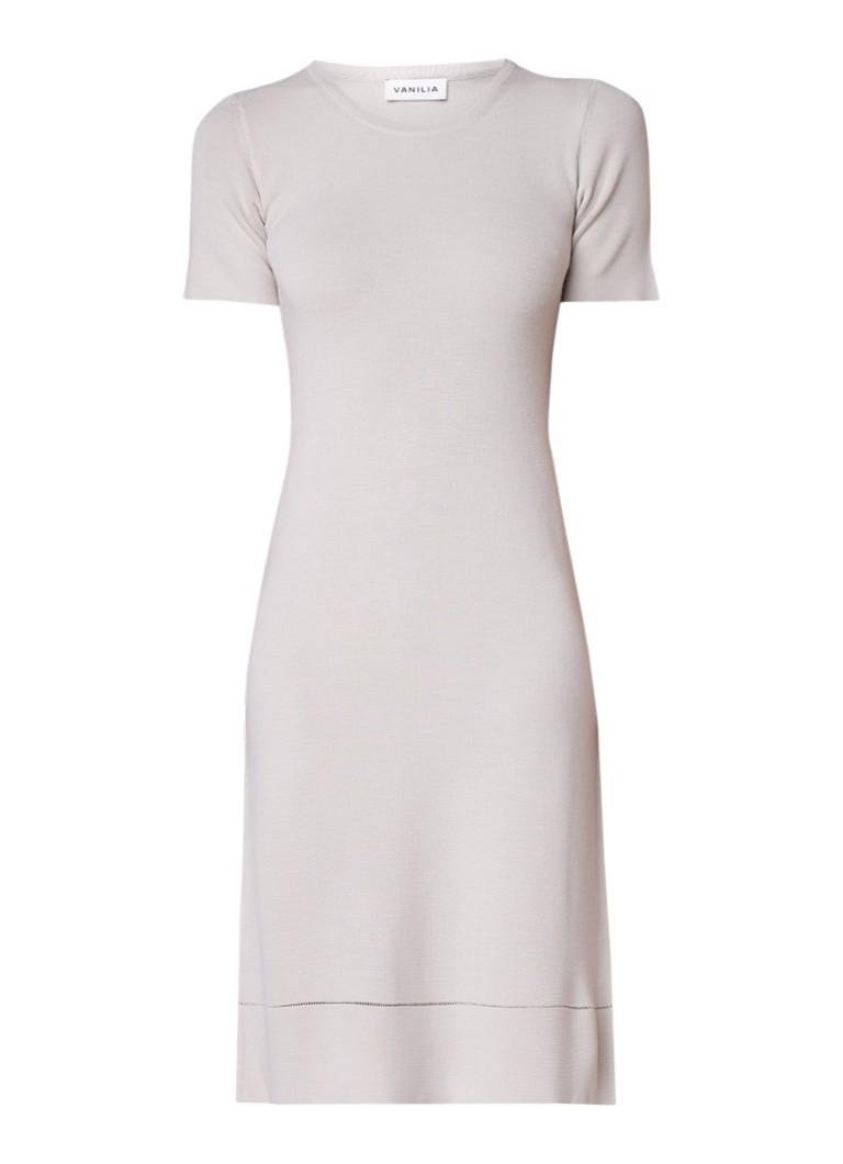 Vanilia Shaping midi-jurk met korte mouw mahoniebruin
