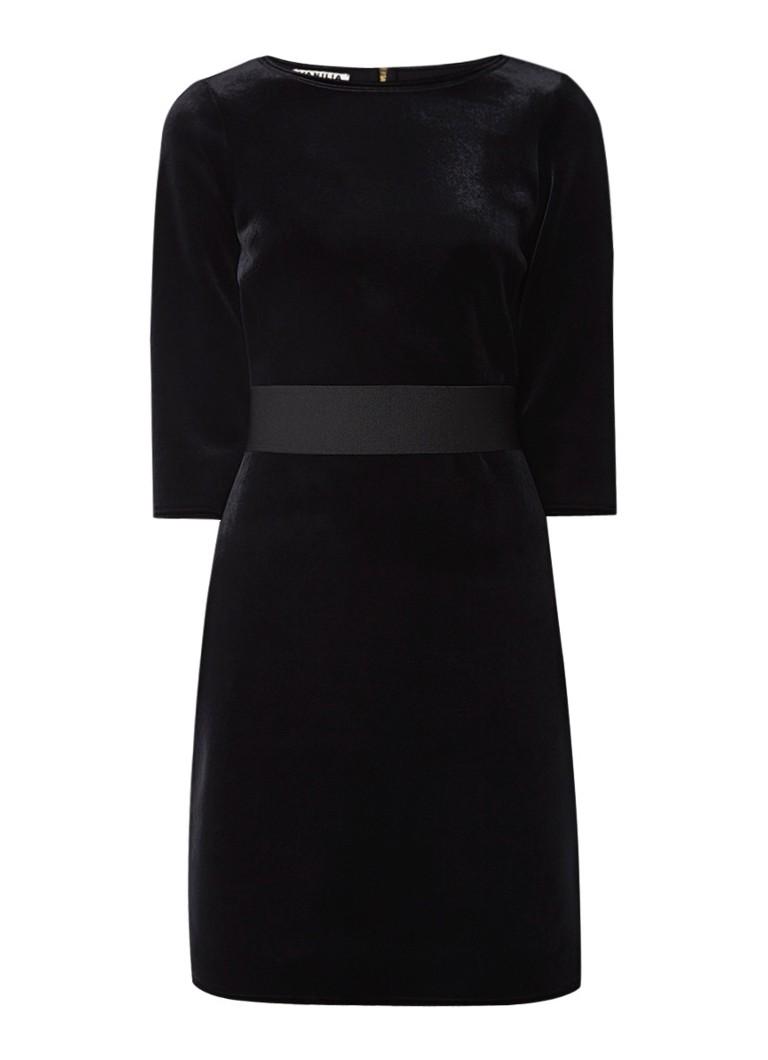 Vanilia Alexia aansluitende midi-jurk van fluweel zwart