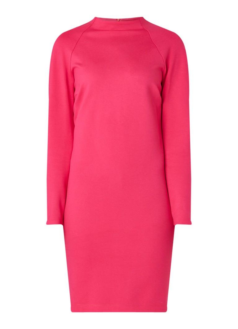 Vanilia Midi-jurk van jersey en lage col donkerroze