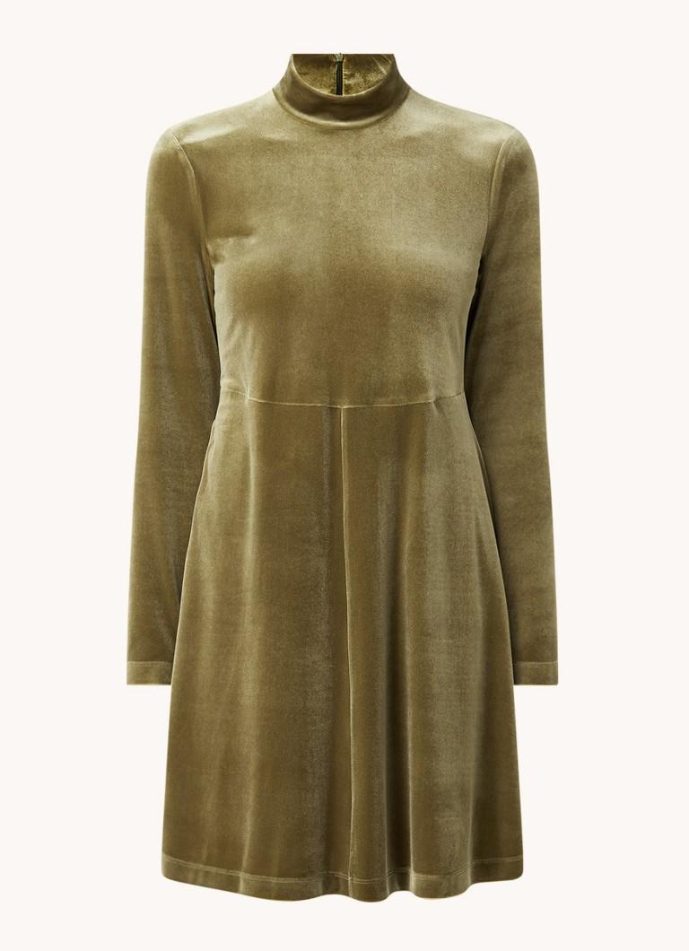Vanilia Mini jurk van fluweel met col