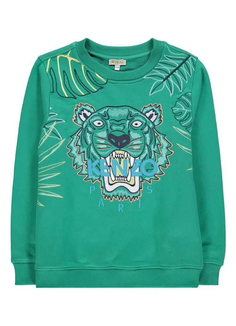 KENZO KIDS Tiger sweater met logoborduring