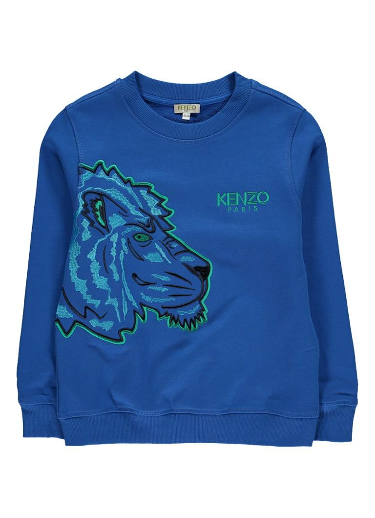 KENZO Kenzo sweater met logoborduring