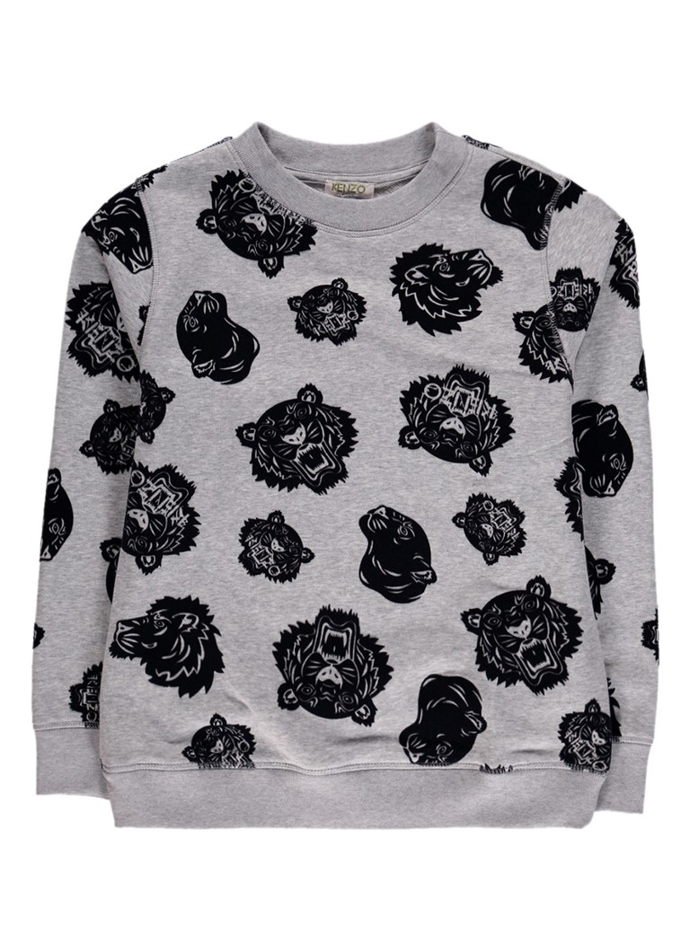 KENZO Edwin sweater met logo flockprint