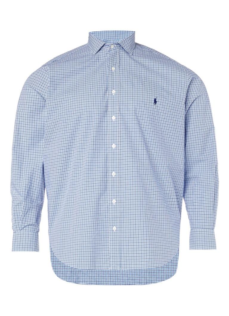 Ralph Lauren Overhemd met ruitdessin en merkborduring