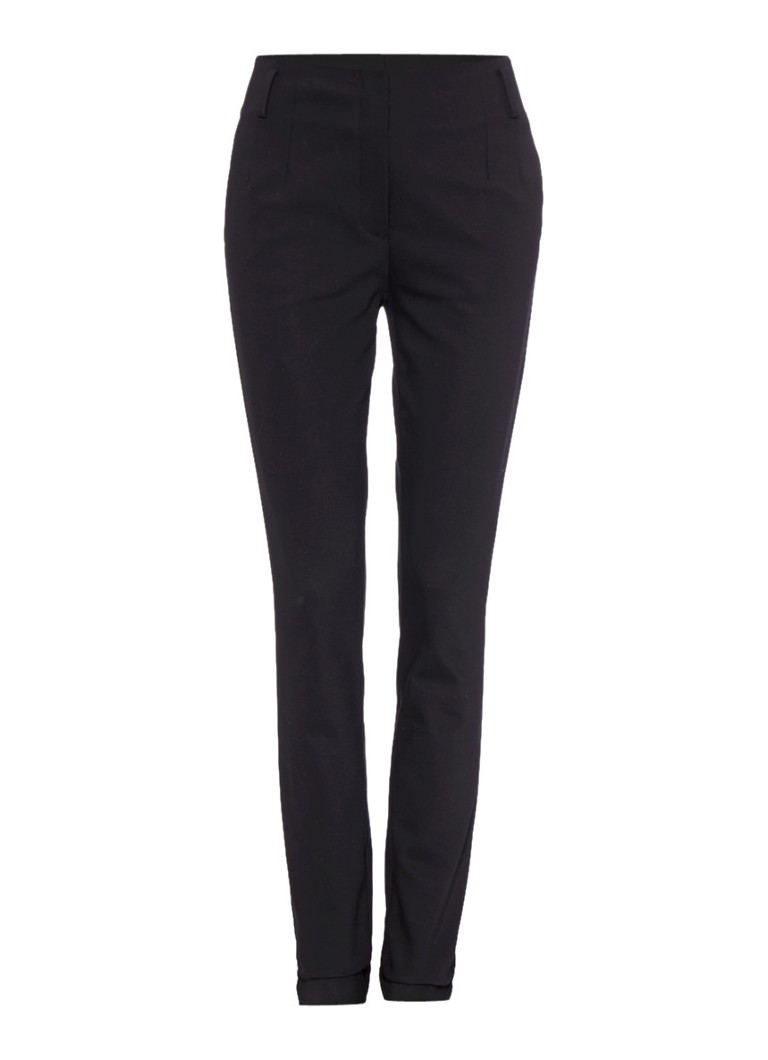 Vanilia Slim fit pantalon met steekzakken blauw