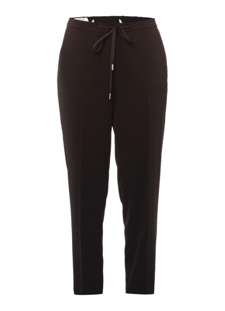 Vanilia Cropped pantalon met sportieve look blauw