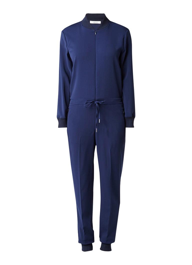 Vanilia Jumpsuit met bomberlook blauw