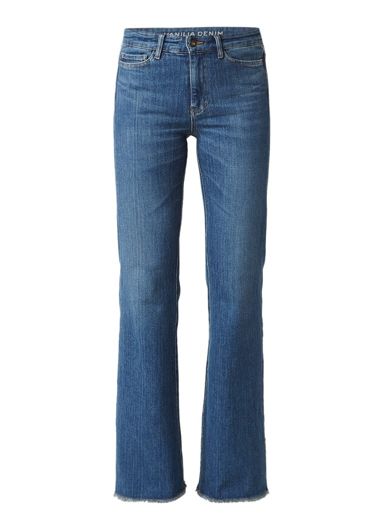 Vanilia Easy Denim high rise flared jeans met medium wassing