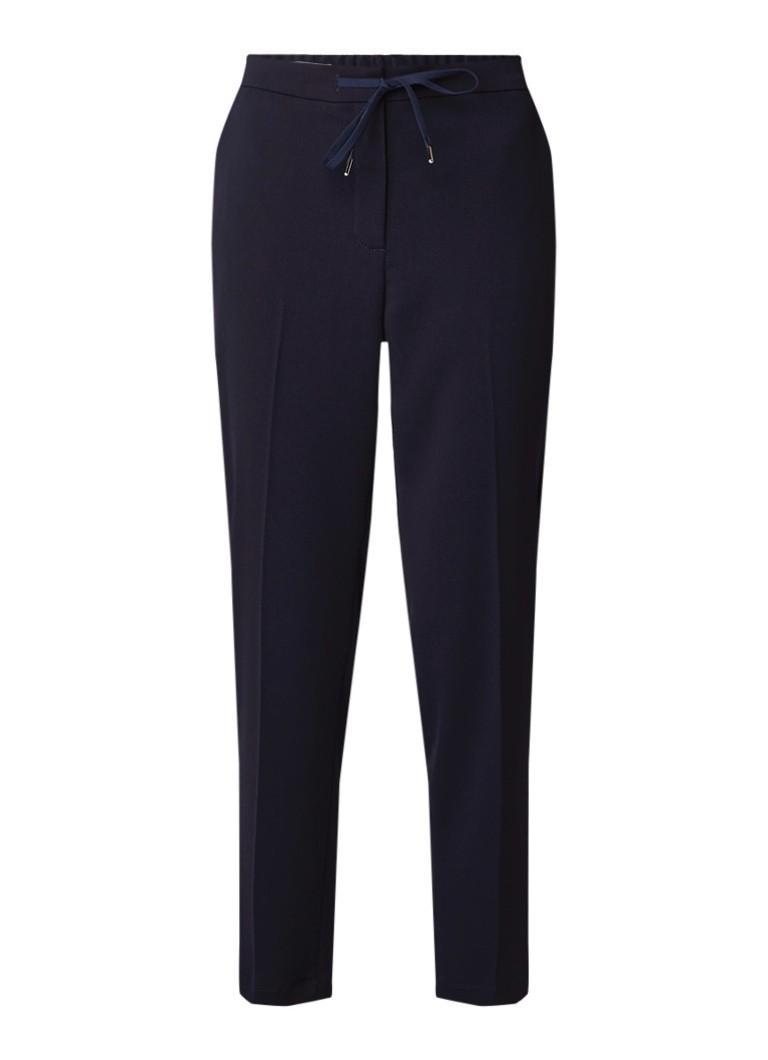 Vanilia Cropped pantalon van crêpe met trekkoord