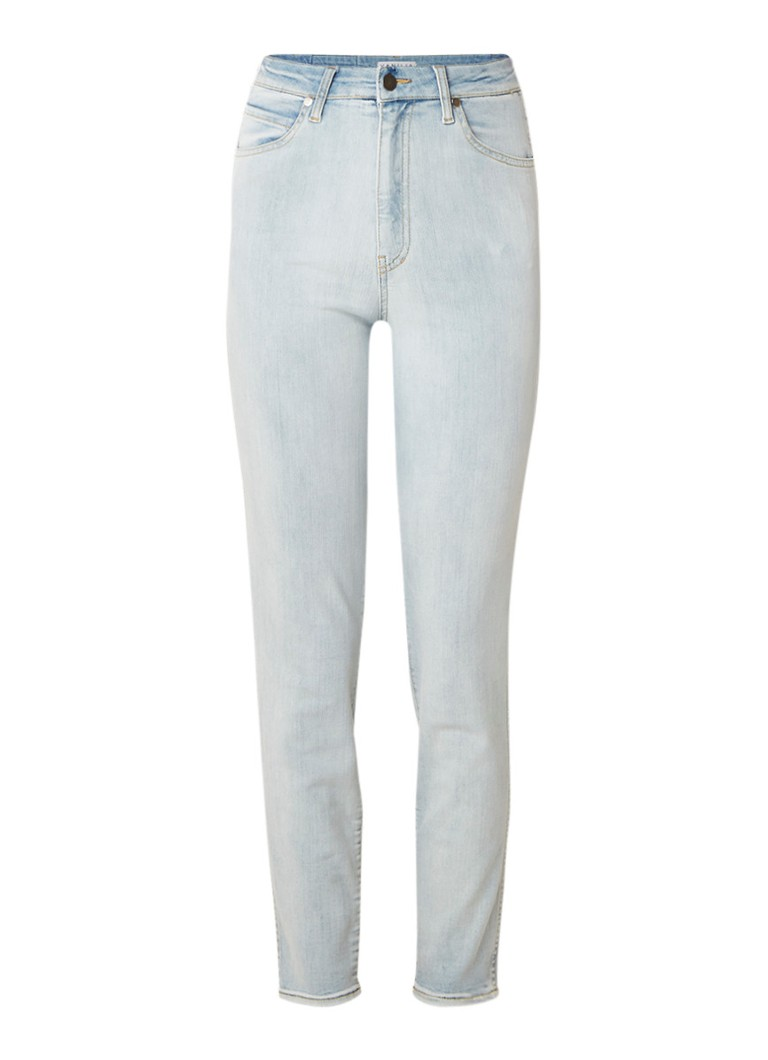 Vanilia High rise cropped skinny jeans met lichte wassing