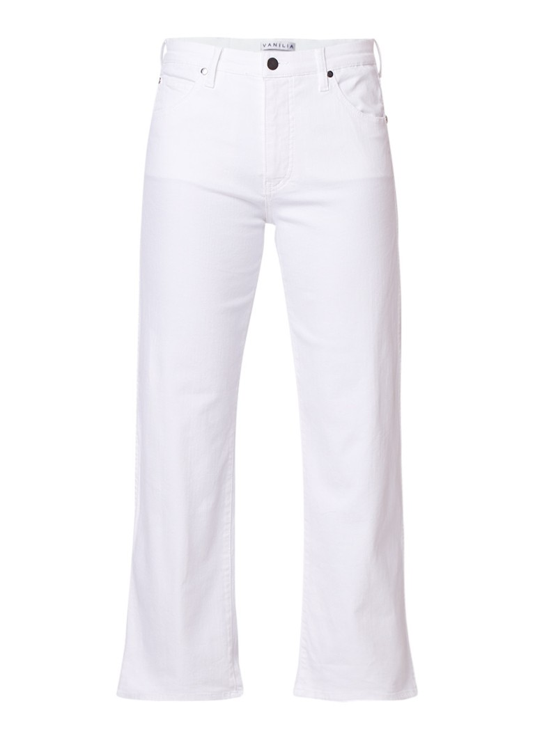 Vanilia High rise straight fit cropped jeans met lichte wassing