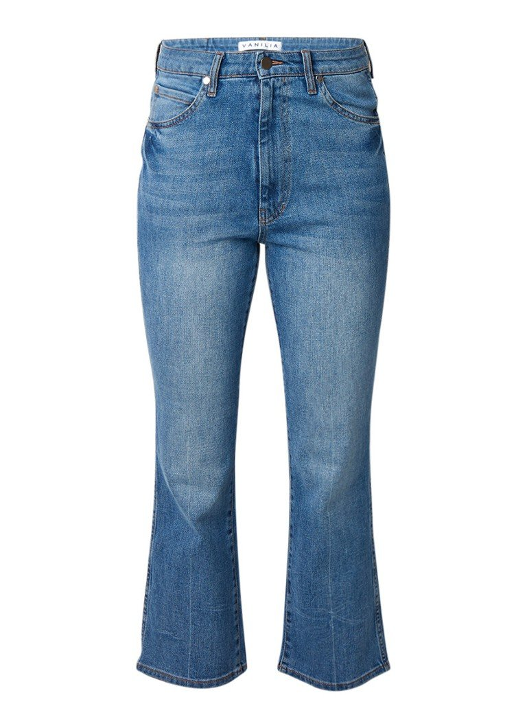 Vanilia High rise straight fit cropped jeans