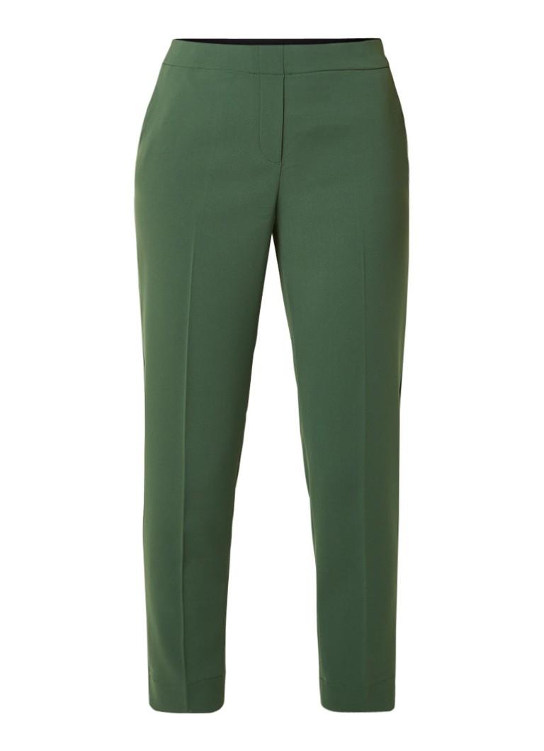 Vanilia High rise tapered fit pantalon van crêpe met elastische tailleband
