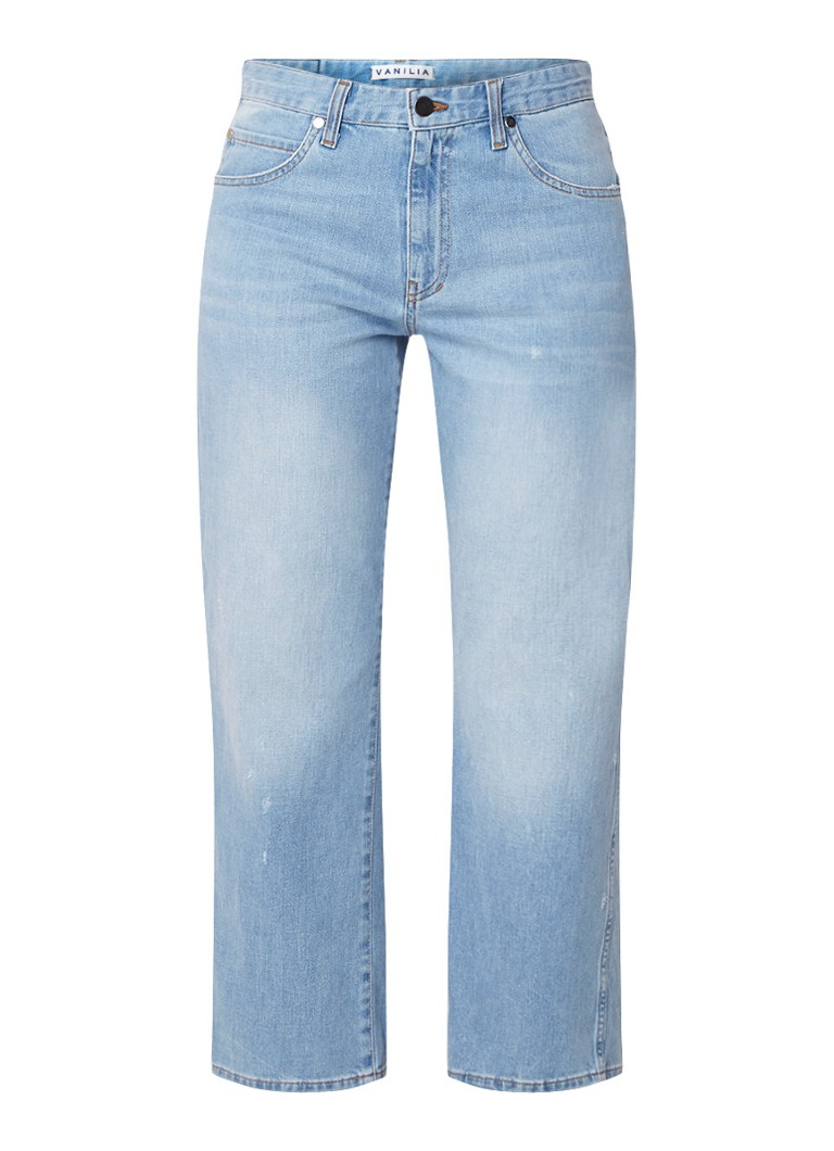 Vanilia Relaxed fit cropped jeans in lichte wassing