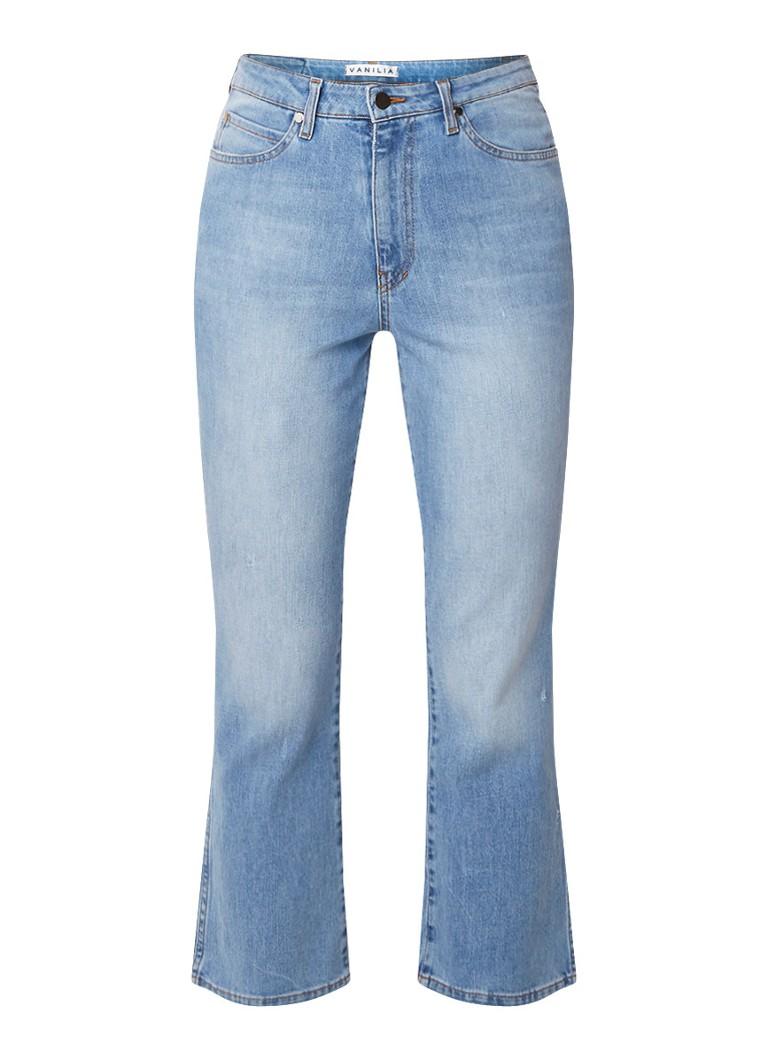 Vanilia High rise kick flare jeans met lichte wassing