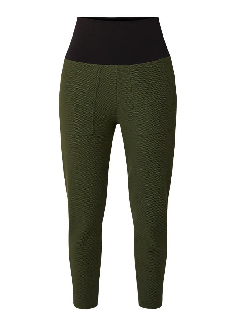 Vanilia Cropped slim fit jogger met elastische tailleband