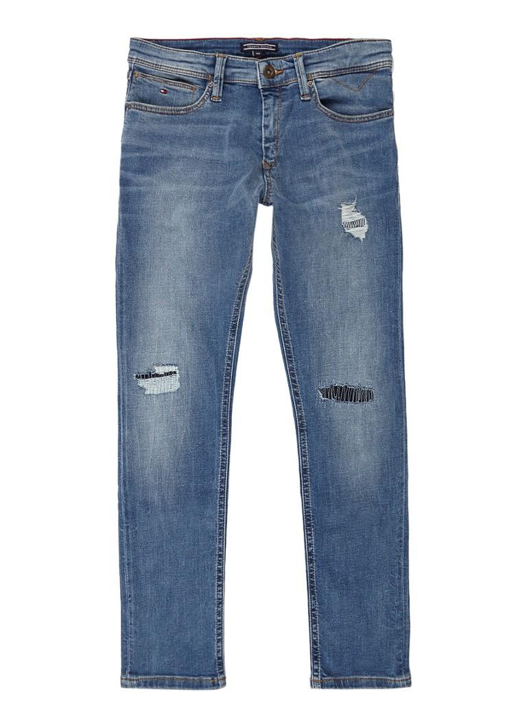 Tommy Hilfiger Steve slim fit tapered jeans met repaired look