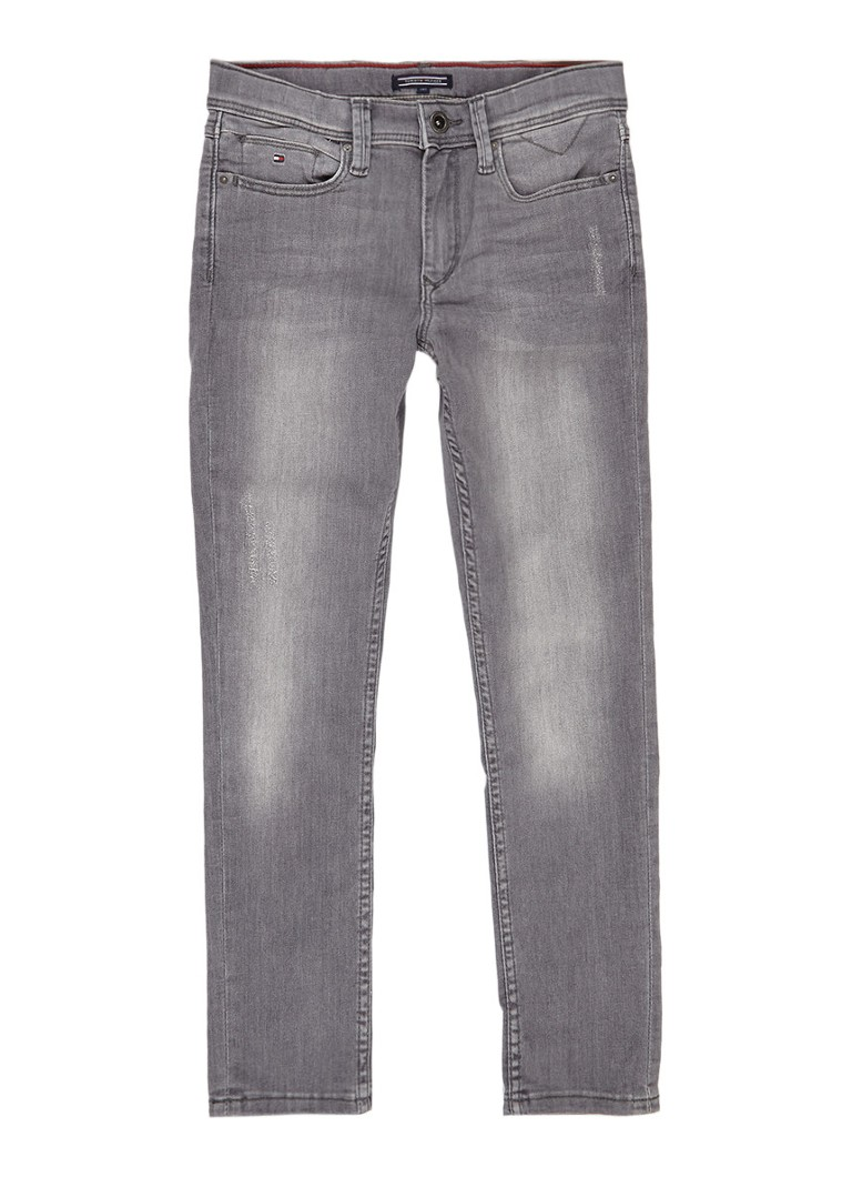 Tommy Hilfiger Steve slim tapered fit jeans met faded look