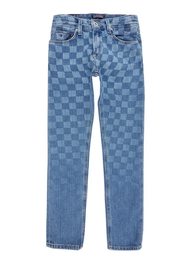 Tommy Hilfiger Steve slim-tapered fit jeans met dessin