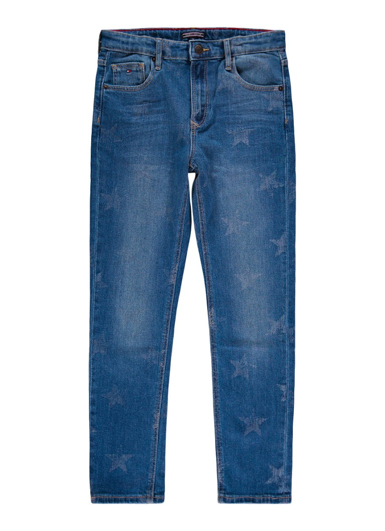 Tommy Hilfiger Straight fit jeans met sterrendessin