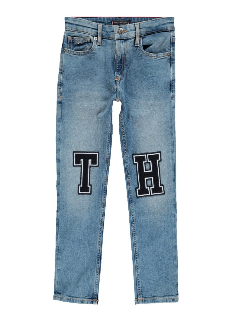 Tommy Hilfiger Randy relaxed fit jeans met applicaties