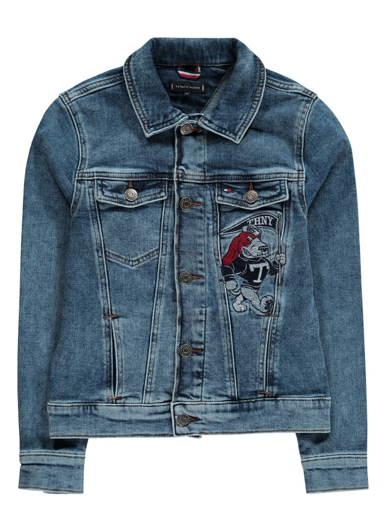 Image of Tommy Hilfiger Jack van denim met borduring