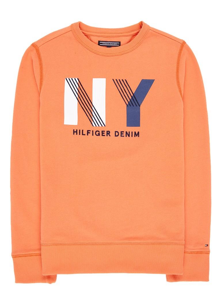 Tommy Hilfiger Sweater in katoenblend met opdruk