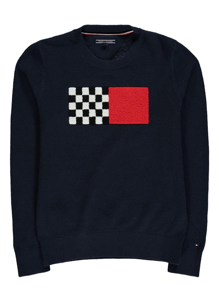 Tommy Hilfiger Ame sweater met textuur en applicatie