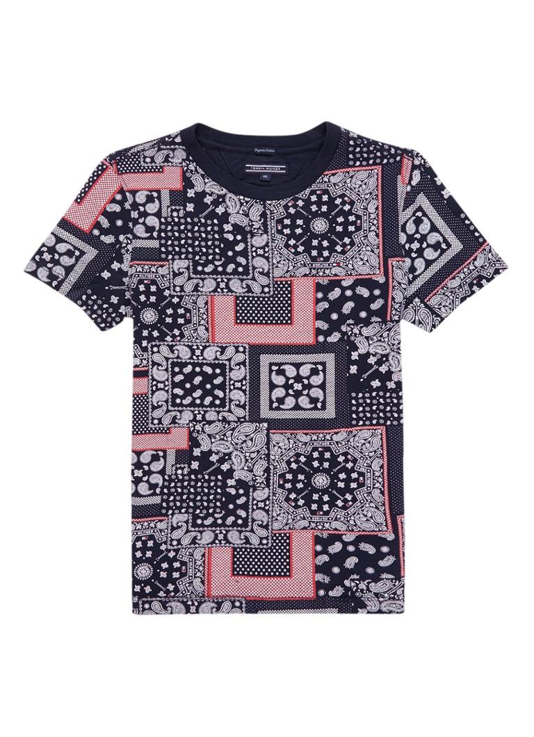 Tommy Hilfiger T-shirt met bandanaprint