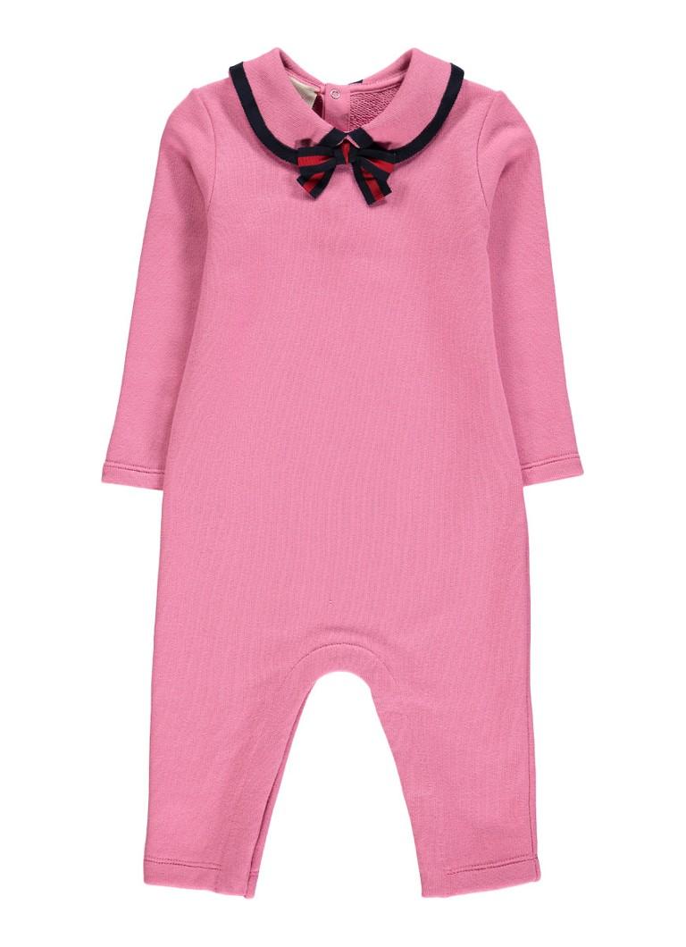 Image of Gucci Babypak met kraag en strikdetail